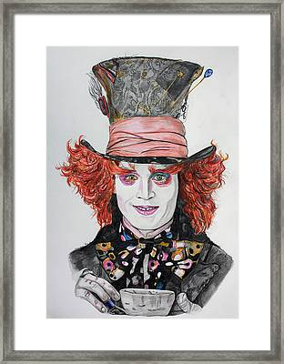The Mad Hatter Framed Print by Wendy Rodgers