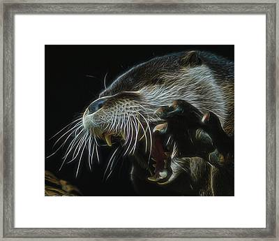 The Mad Otter Framed Print by Ernie Echols