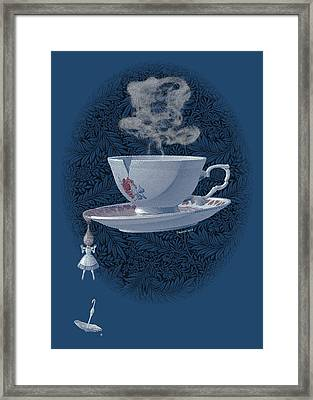 The Mad Teacup - Royal Framed Print by Swann Smith