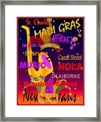 The Madi Gras Framed Print by Gayle Price Thomas