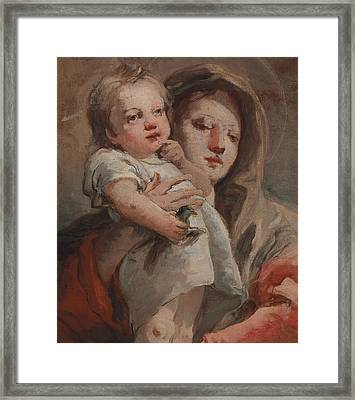 The Madonna And Child With A Goldfinch Framed Print