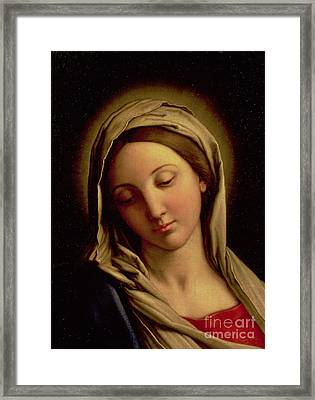 The Madonna Framed Print by Il Sassoferrato