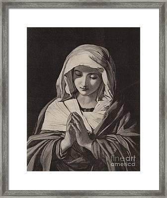 The Madonna In Prayer Framed Print