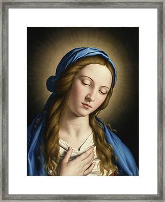 The Madonna Framed Print