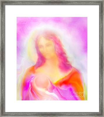 The Madonna Of Compassion Framed Print by Glenyss Bourne