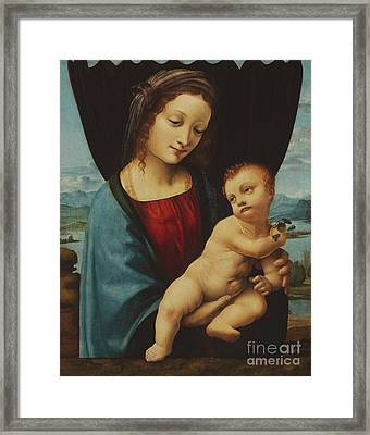 The Madonna Of The Violets Framed Print