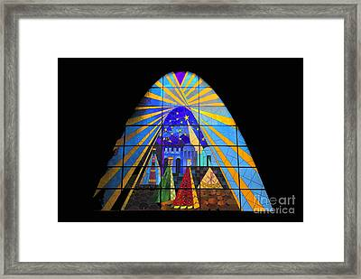 The Magi In Stained Glass - Giron Ecuador Framed Print by Al Bourassa