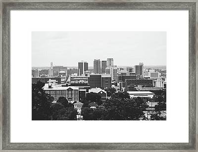 Framed Print featuring the photograph The Magic City In Monochrome by Shelby Young