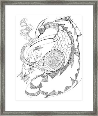 The Magic Dragon Brings Good Luck Framed Print