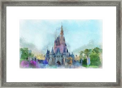 The Magic Kingdom Castle Wdw 05 Photo Art Framed Print