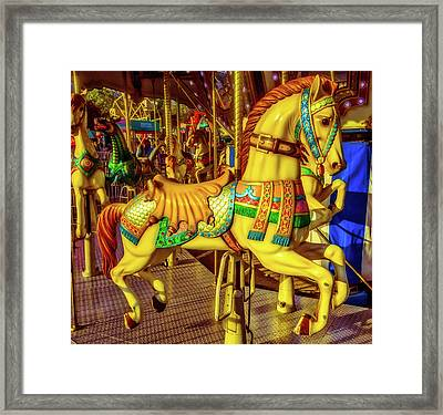 The Magic Of A Carrousel Horse Framed Print