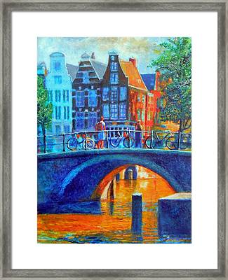 The Magic Of Amsterdam Framed Print by Michael Durst