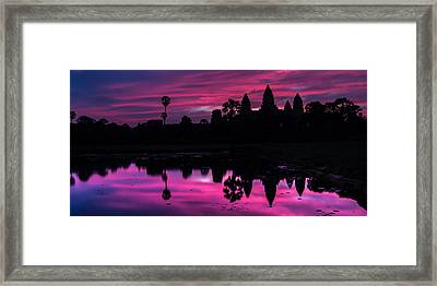 The Magic Of Angkor Wat Framed Print