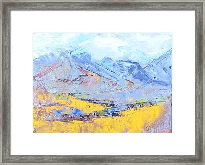 The Magic Of Mountains Framed Print