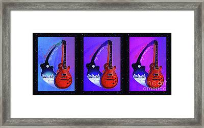 The Magic Of Music Framed Print by Gem S Visionary