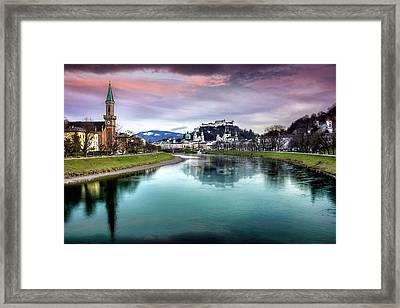 The Magic Of Salzburg  Framed Print