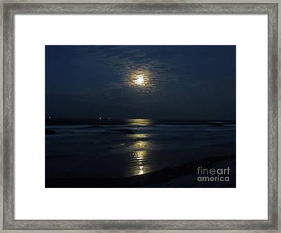The Magic Of The Supermoon Framed Print