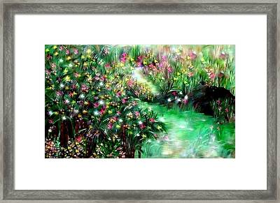Framed Print featuring the painting The Magical Garden by Sherri  Of Palm Springs