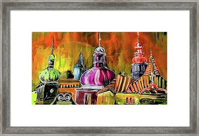 The Magical Rooftops Of Prague 01 Framed Print by Miki De Goodaboom
