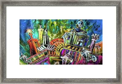 The Magical Rooftops Of Prague 02 Framed Print by Miki De Goodaboom