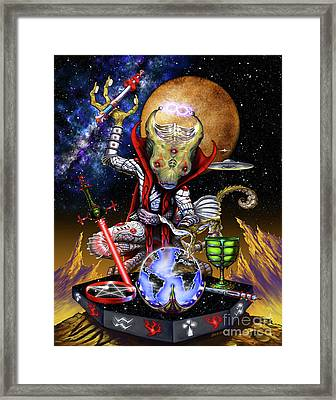 The Magician 78 Tarot Astral Card Framed Print by Stanley Morrison