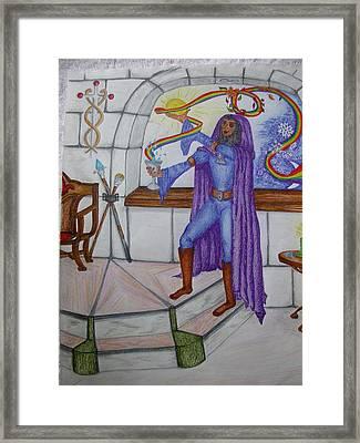 The Magician Framed Print by Carol Frances Arthur