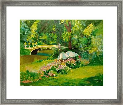 Framed Print featuring the painting The Magnificent Bow Bridge by Nicolas Bouteneff