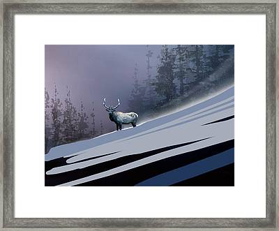 The Magnificent Elk Framed Print by Paul Sachtleben