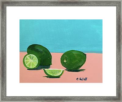 The  Magnificent Fruit From The Lime Tree II Framed Print