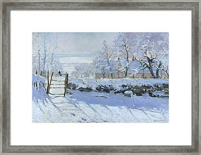 The Magpie Claude Monet 1869 Framed Print
