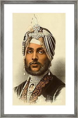 The Maharajah Duleep Singh Framed Print by English School