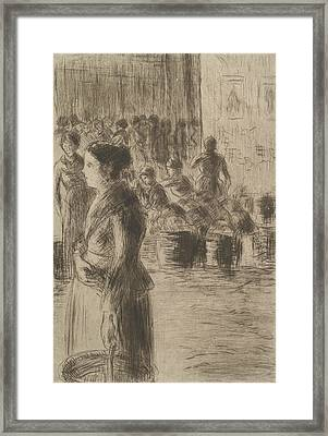 The Maid At The Market Framed Print