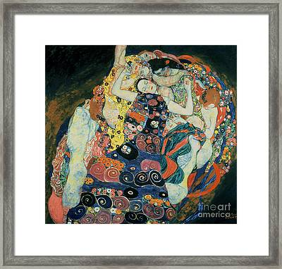 The Maiden Framed Print by Gustav Klimt