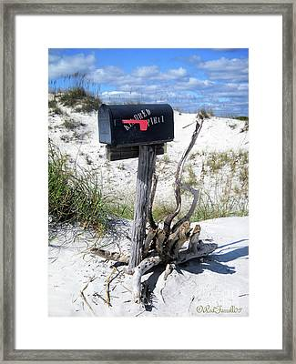 The Mailbox Framed Print by Rod Farrell