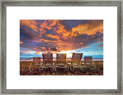 The Main Event Framed Print by Debra and Dave Vanderlaan