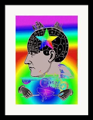 Symbolism Of The Hand Digital Art Framed Prints