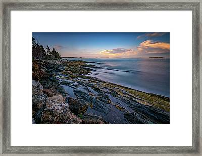 The Maine Coast Framed Print by Rick Berk