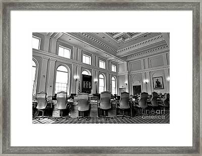 The Maine Senate Chamber Framed Print by Olivier Le Queinec