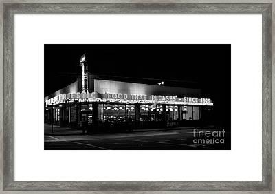 The Majestic Diner Framed Print by Arni Katz