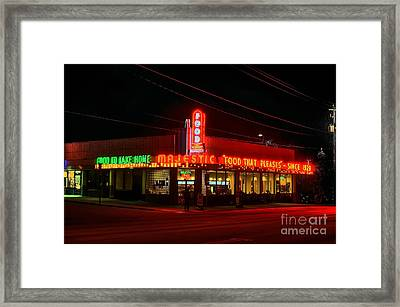 The Majestic Diner Framed Print by Corky Willis Atlanta Photography