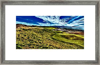 The Majestic Hole #16 At Chambers Bay Framed Print by David Patterson