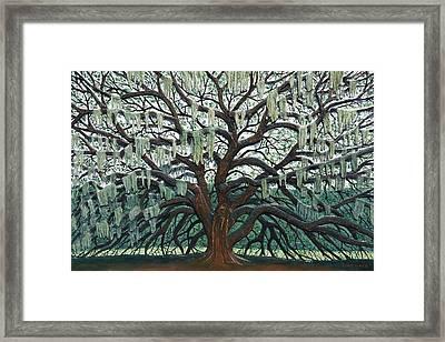 Majestic Oak  Framed Print by Nathan Ledyard