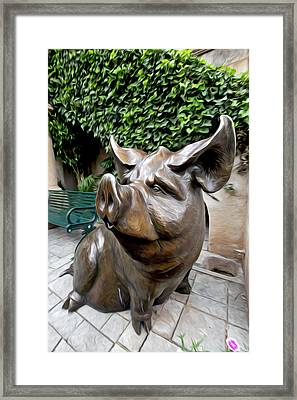 The Majestic Pig Framed Print