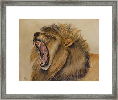 The Majestic Roar Framed Print