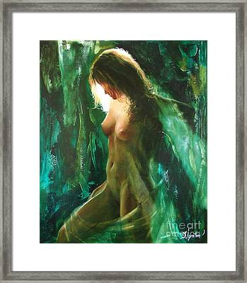 The Malachite Light Framed Print by Sergey Ignatenko