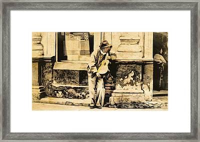 The Malingering Minstrel Framed Print