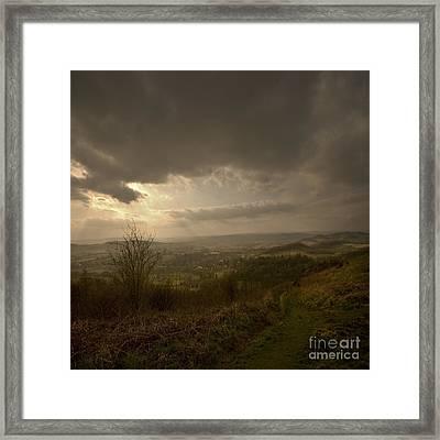 The Malvern Hills Framed Print by Angel Ciesniarska