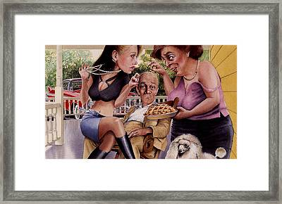 The Man And His Sweethearts Framed Print by Denny Bond