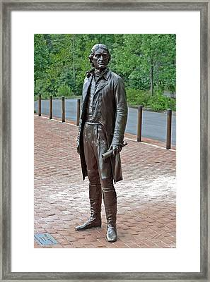 The Man Behind Monticello Framed Print by DigiArt Diaries by Vicky B Fuller