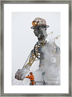 The Man Engine And His Man Framed Print by Terri Waters